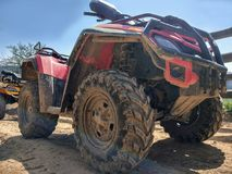 ATV, bottom view, close-up royalty free stock images