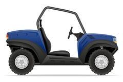 Atv car buggy off roads vector illustration Royalty Free Stock Photos