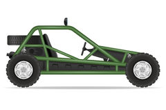 Atv car buggy off roads vector illustration Stock Photo