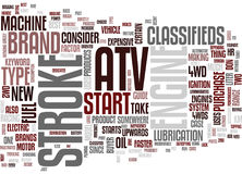 Atv Classified Word Cloud Concept Royalty Free Stock Photography