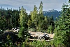 ATV conduisant dans Whistler Photo stock