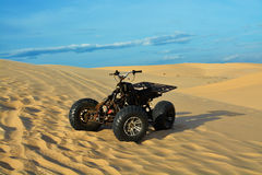 ATV in desert Royalty Free Stock Images