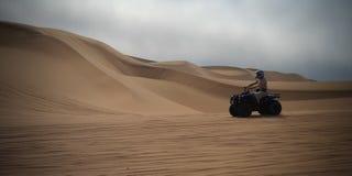 ATV driving at Namib desert, Swakopmund, Namibia Stock Photos