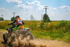 ATV en la acción Fotografía de archivo