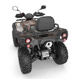 ATV Four Wheeler Bike on white. 3D illustration. ATV Four Wheeler Bike on white background. 3D illustration Stock Image