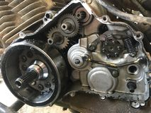 ATV four wheeler engine. Partly disassembled ATV engine awaiting new gasket and parts Royalty Free Stock Photography