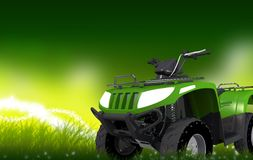 ATV on Grass Copy Space Royalty Free Stock Images