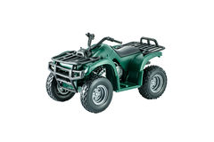 ATV Green color. ATV toy Green color isolated on white Royalty Free Stock Photo