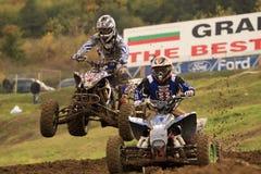 ATV, HET RAS VAN DE MOTOCROSS - SEVLIEVO Stock Foto's