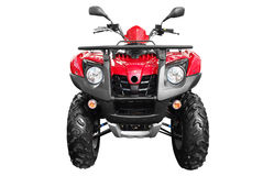 Atv isolated. Front view of atv quad-bike isolated on white Royalty Free Stock Photos
