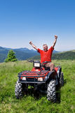 atv kierowcy szczęśliwy kwadrat Obrazy Stock