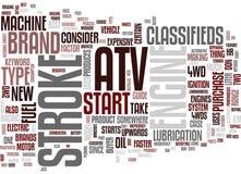 Atv klassifizierte Wort-Wolken-Konzept Lizenzfreie Stockfotografie