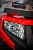 ATV LED headlight. Detail on one of the LED headlights of an ATV Royalty Free Stock Photo