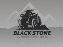 ATV logo on grunge grey background. Stock Photos