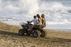 Atv in manzanillo. Beach, state of Colima in Mexico Stock Photos