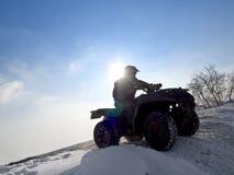 ATV Mitfahrer. lizenzfreies stockfoto
