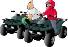 ATV Mitfahrer stock abbildung