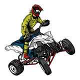 ATV moto rider Royalty Free Stock Photo