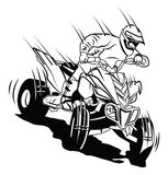 ATV moto rider. Eps 10  illustration Design Stock Photo