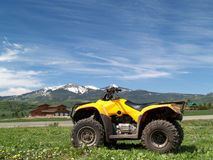 ATV on mountain background Royalty Free Stock Photography