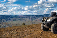 Atv in the mountains Stock Images
