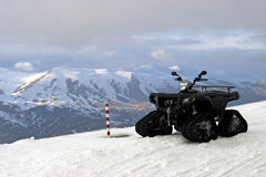 ATV in mountains of Turkey. View on a one ATV in mountains of Turkey stock image