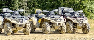 ATV. In mud after riding through the woods Royalty Free Stock Photos