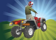 ATV off-road rider Royalty Free Stock Photography