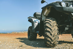 ATV offroad on sea and sky background Royalty Free Stock Photography