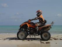 Atv op het strand in Haïti royalty-vrije stock foto