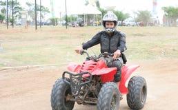 Atv ou piloto do veículo da bicicleta do quadrilátero Imagens de Stock Royalty Free