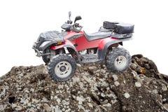 Atv quad bike on a mountain rock Stock Photo