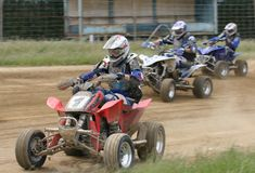 ATV / Quad bike racing Stock Images