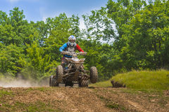 ATV QUAD racer jumping Stock Photos