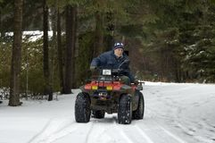ATV quad senior rider Stock Photos