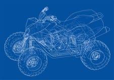 ATV quadbike concept outline. Vector Stock Photos