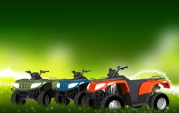 ATV Quads on the Meadow Royalty Free Stock Photography