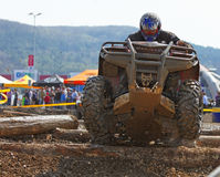 ATV race. Cluj Napoca,Romania, 11 April 2009 -Image of a rider during the Can-Am Vaneaza Lupul 2009 race Stock Images