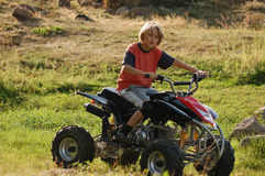 ATV racer. Young ATV racer on competition Stock Photos