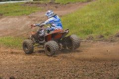 ATV racer takes a turn Stock Photos