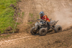 ATV racer takes a turn Royalty Free Stock Photography