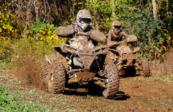 ATV Racing 2. Image of ATV racing on closed course Stock Images