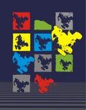 ATV racing. Design a T-shirt with colored ATV racing stock illustration