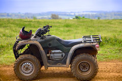 ATV in profile with helmet Royalty Free Stock Images