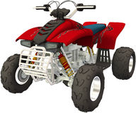 ATV Recreational Vehicle Illustration Isolated Royalty Free Stock Images