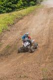 ATV-Rennläufer Stockbild