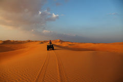 ATV Ride In The Desert Royalty Free Stock Photography