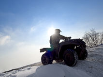 ATV rider. Royalty Free Stock Photo