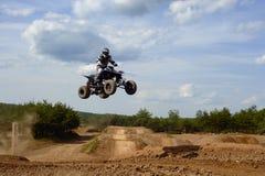Atv rider 2 Jumping. ATV rider jumping into the air Stock Photography