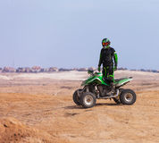 ATV rider in the desert summer Stock Images